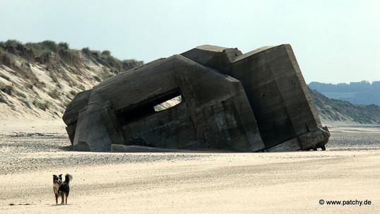 Die Bunker  an den Stränden der Normandie lassen sich seit über 60 Jahren nicht klein kriegen